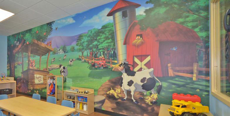 Farm & Country Themed Wall Covering at My Small Wonders Daycare