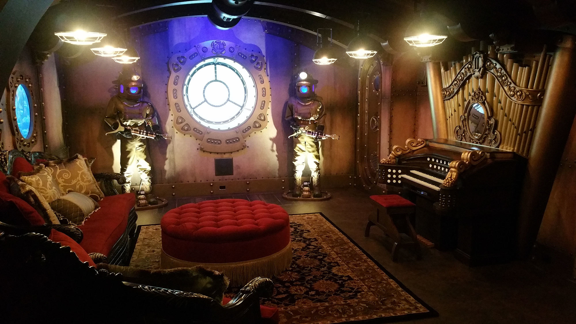 20,000 Leagues Under the Sea Nautical Home Theatre in Florida Residential Home