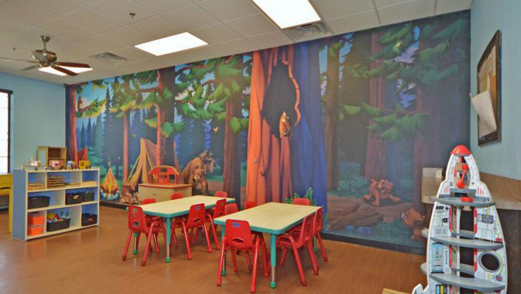 Camping Themed Wall Covering at My Small Wonders Daycare