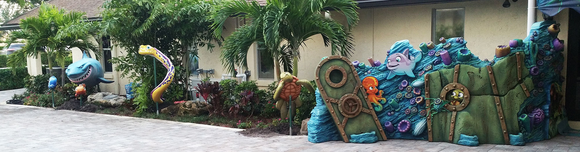 Outdoor Undersea Themed Elements at Trinity Church International