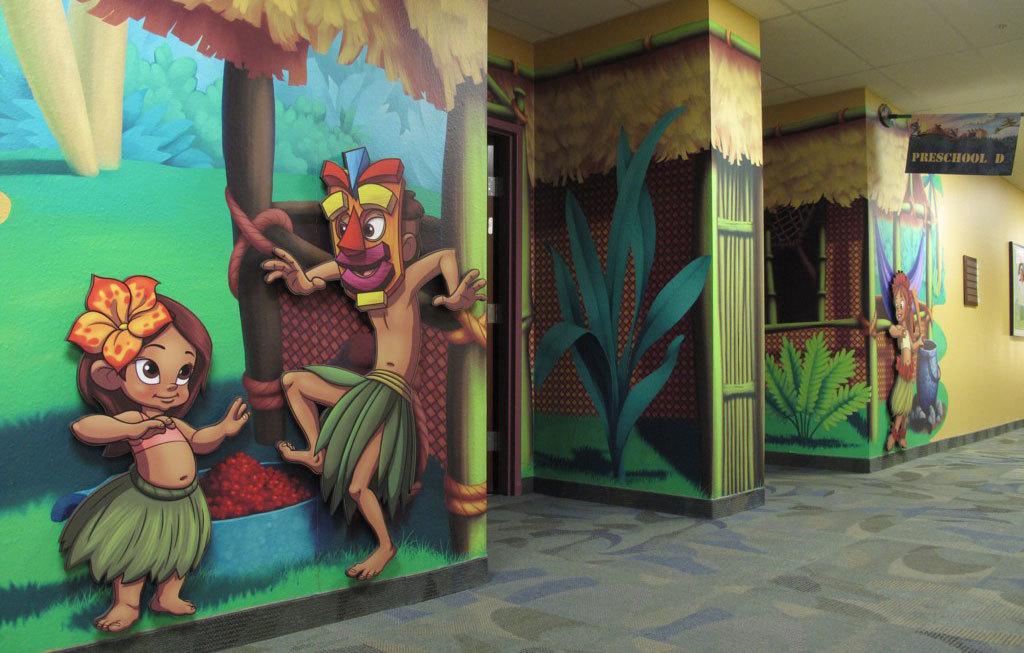 Around the World Polynesian Island Themed Environment at Bent Tree Bible Fellowship