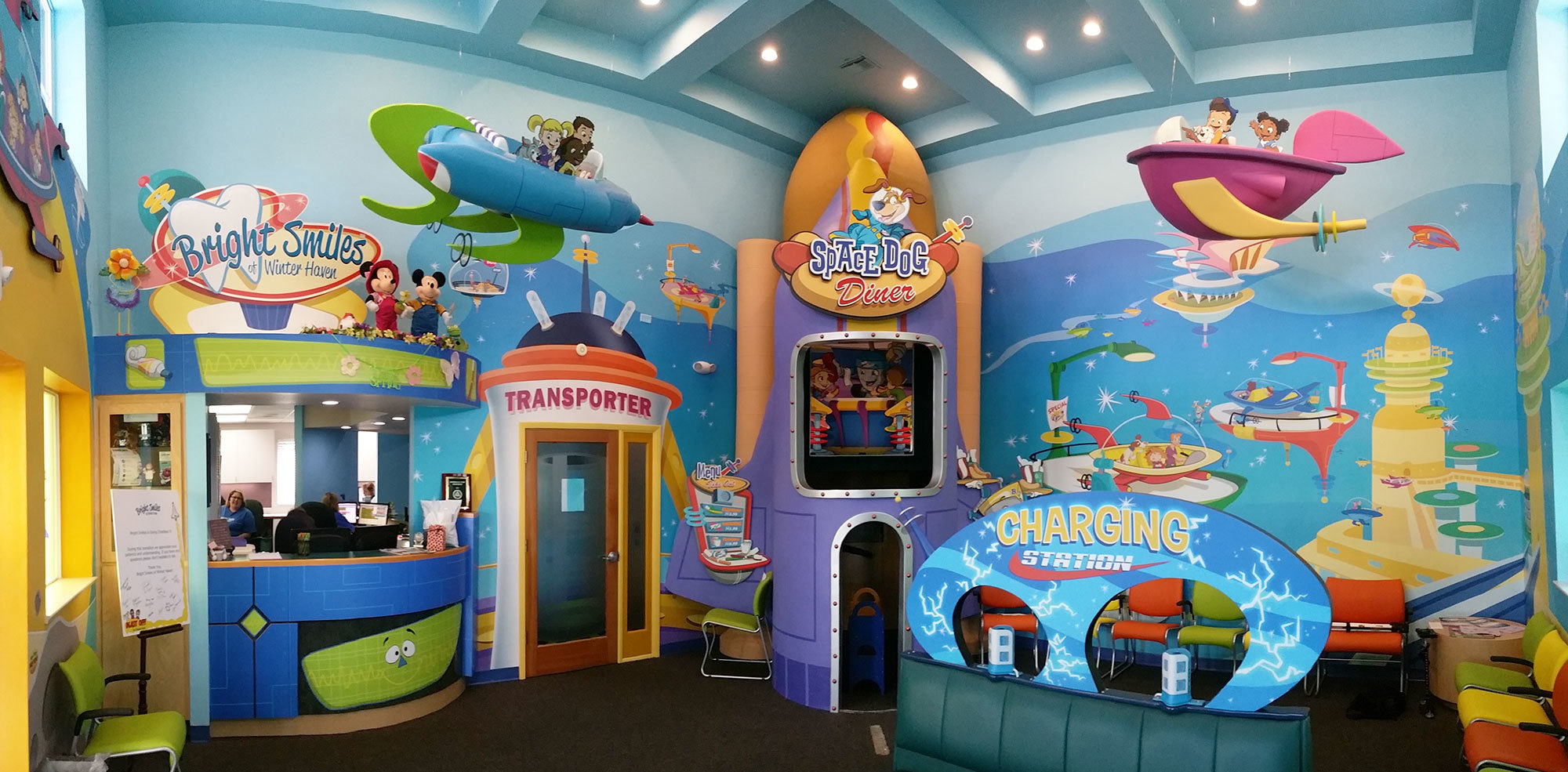 Outerspace Future World Themed Environment at Bright Smiles Pediatric Dentistry