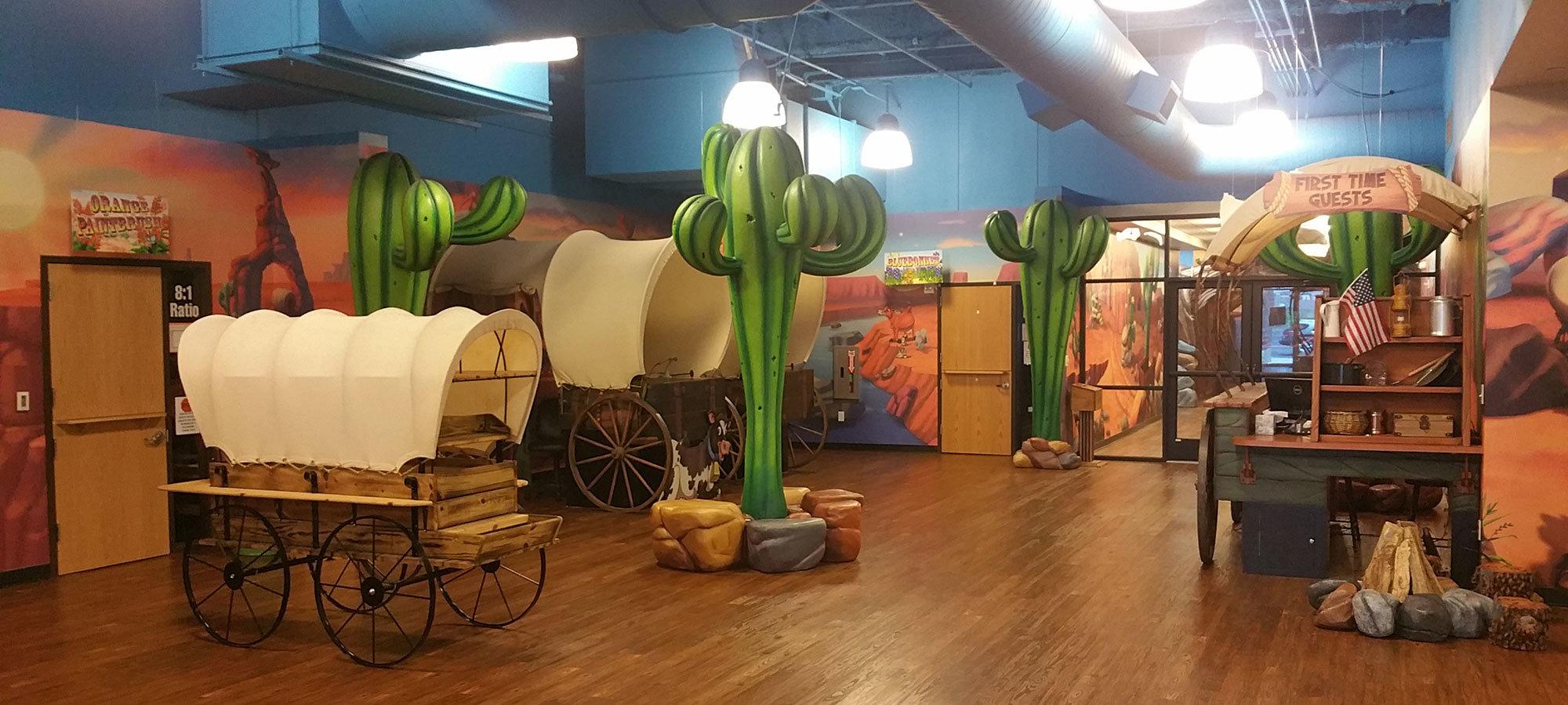 Old West Western Themed Environment at Crossroads Church Texas
