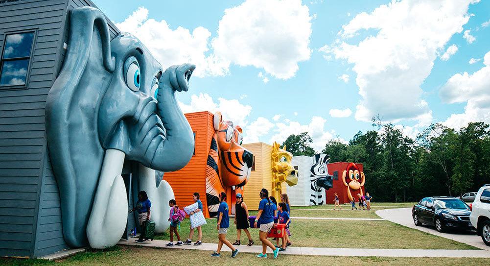 Giant Animal Building Fascade at Carolina Creek Christian Camp