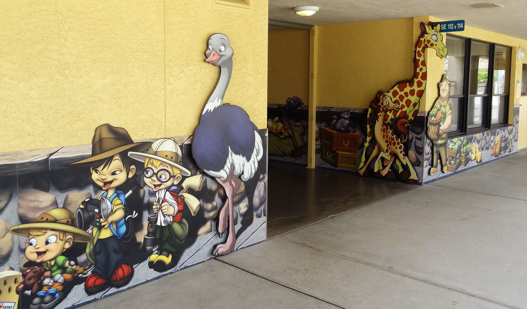 Park & Zoo Themed Environment at Casas Church