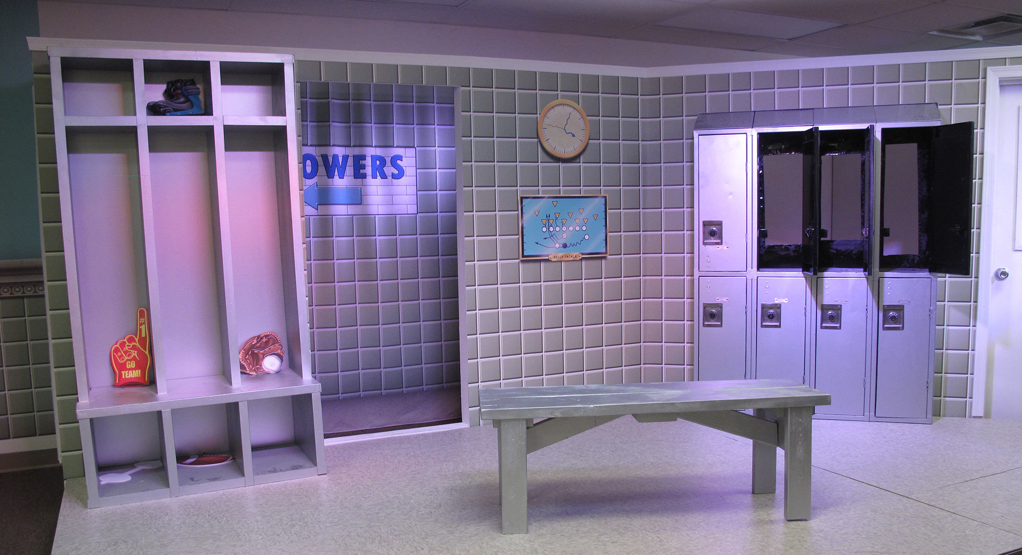 Sports Locker Room Themed Environment at Casas Church
