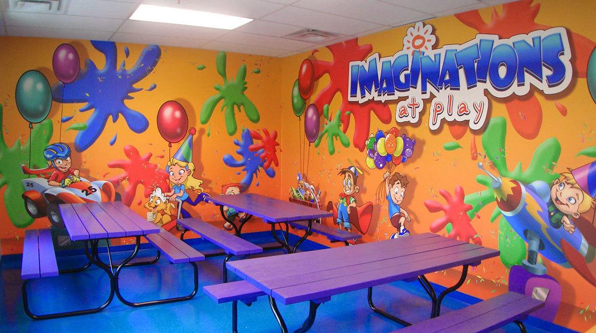 Art Class Themed Wall Covering at Imaginations at Play