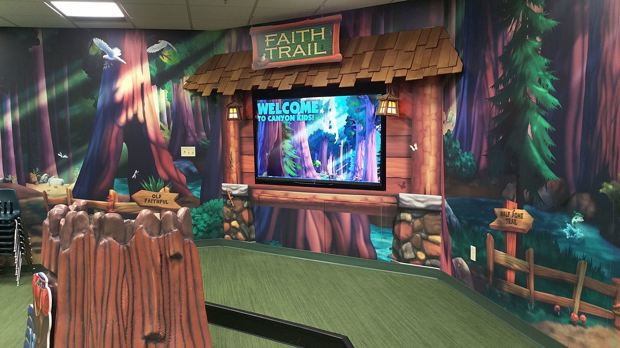 Camping Themed Environment at Faith Family Church SD