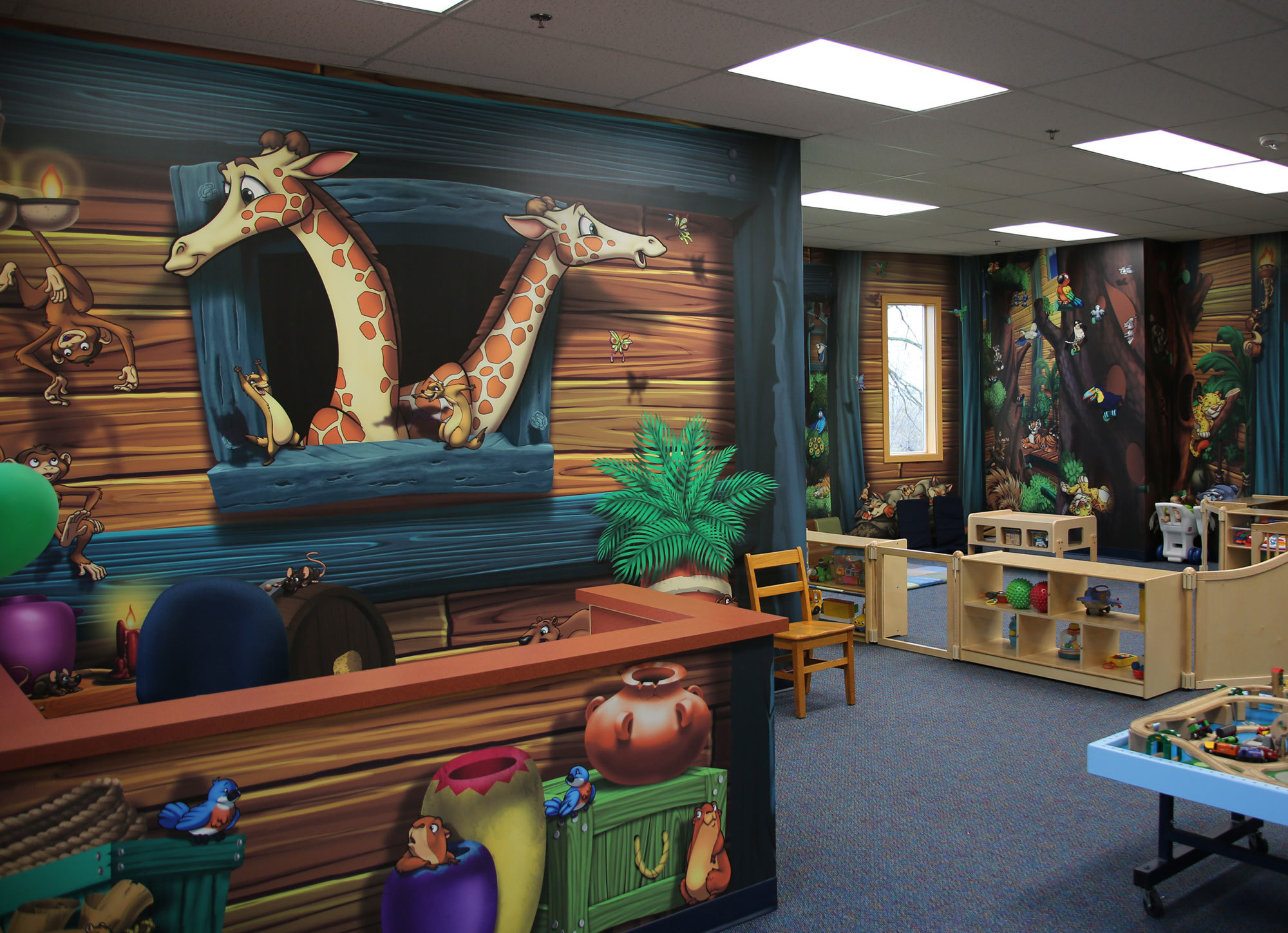 Example of Express Murals Themed Space