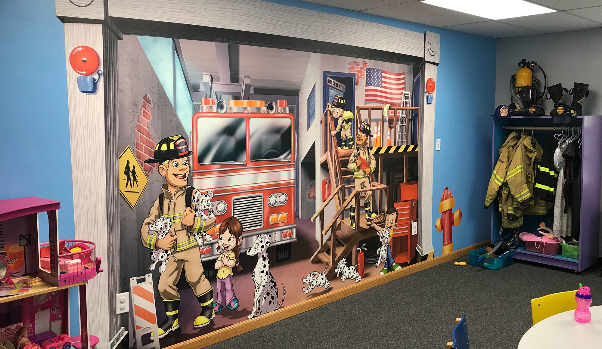Toon Town Themed Wall Covering at North Dunedin Baptist Church
