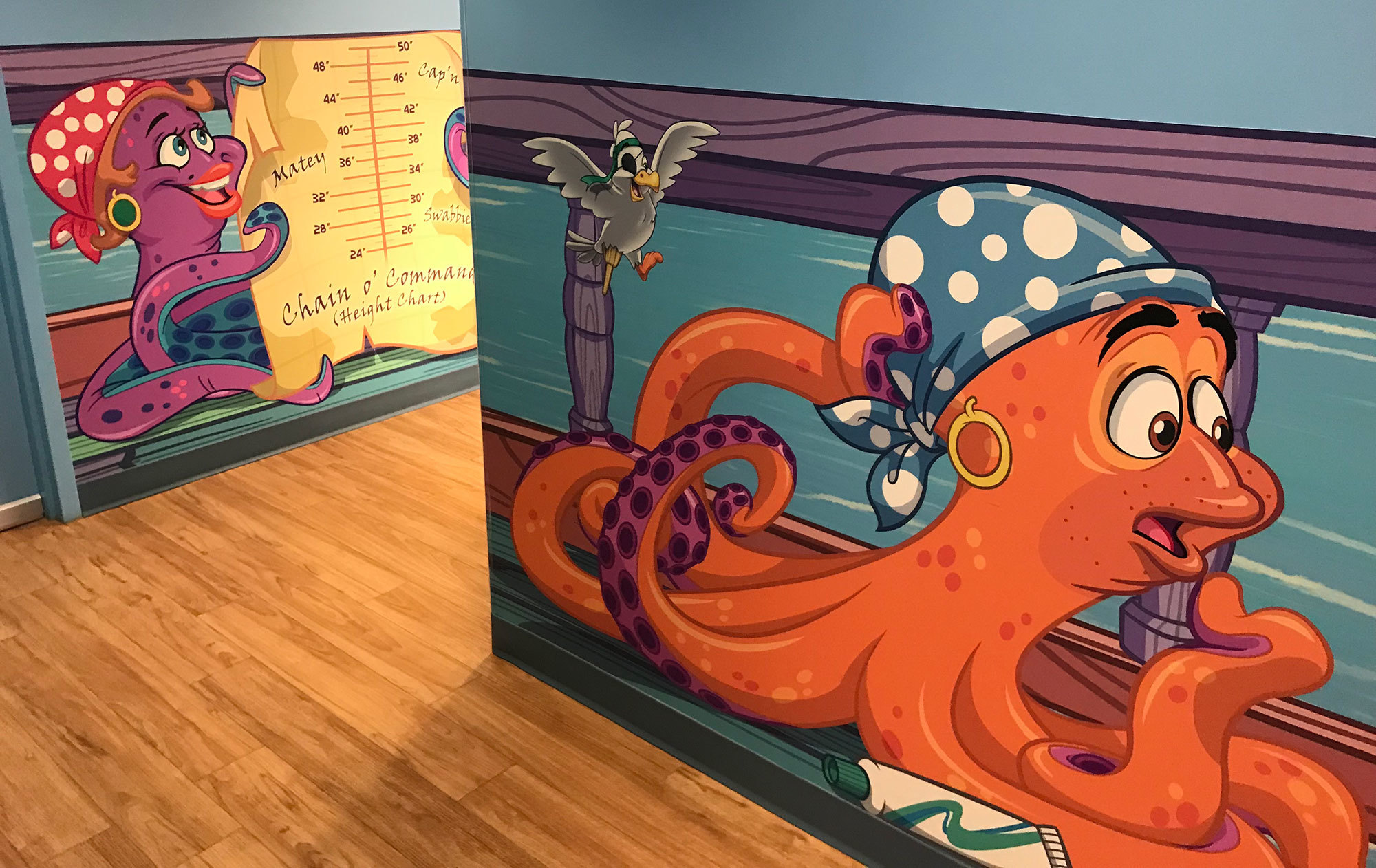 Sea Animal Pirate Themed Space at Dr Stettler Kids Rock Pediatric Dentistry
