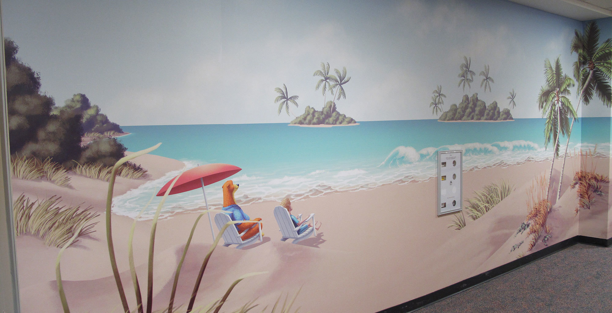 Beach Themed Wall Covering at Celebration Health Florida Hospital