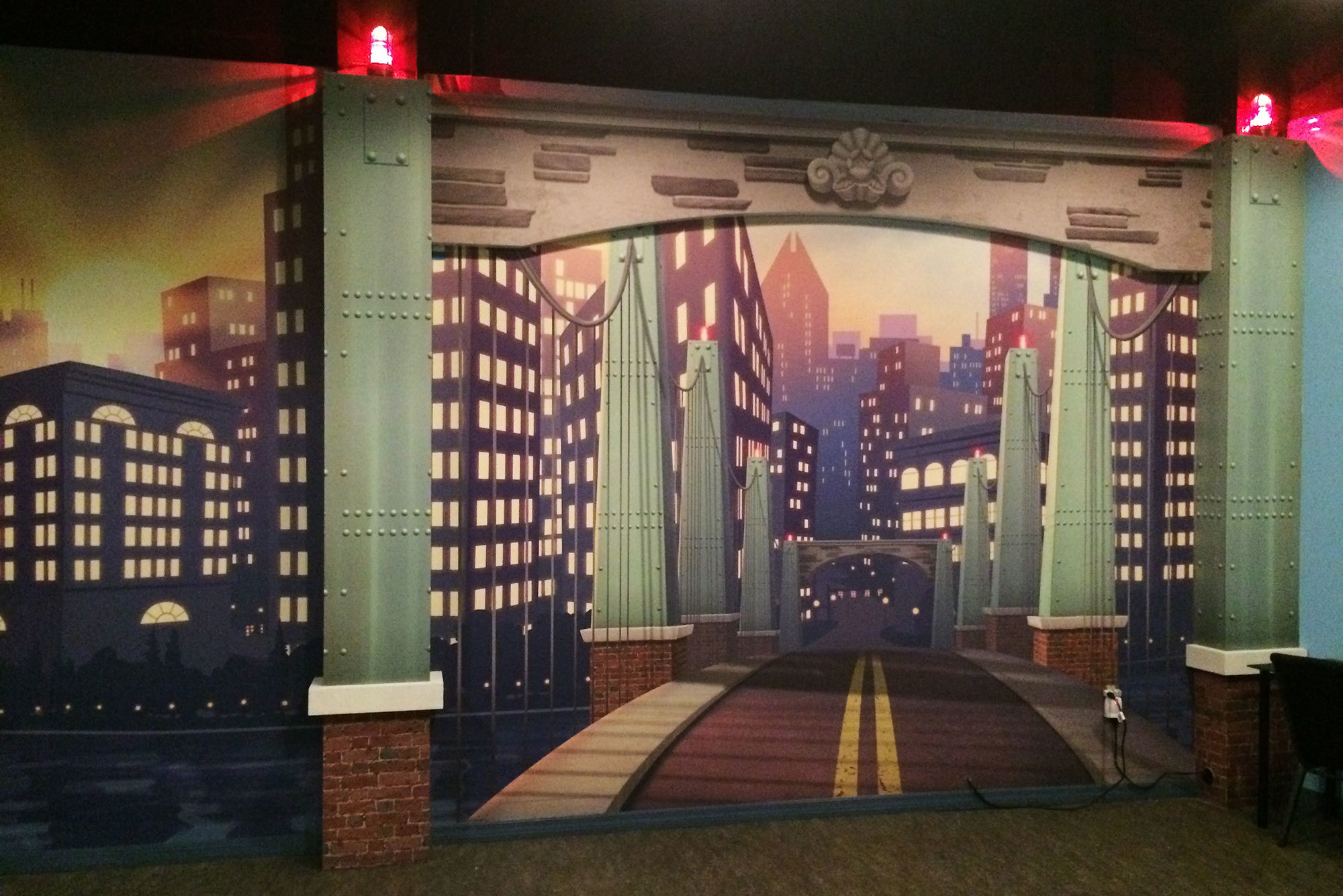 Big City Themed Wall Covering at Relevant Church Tampa