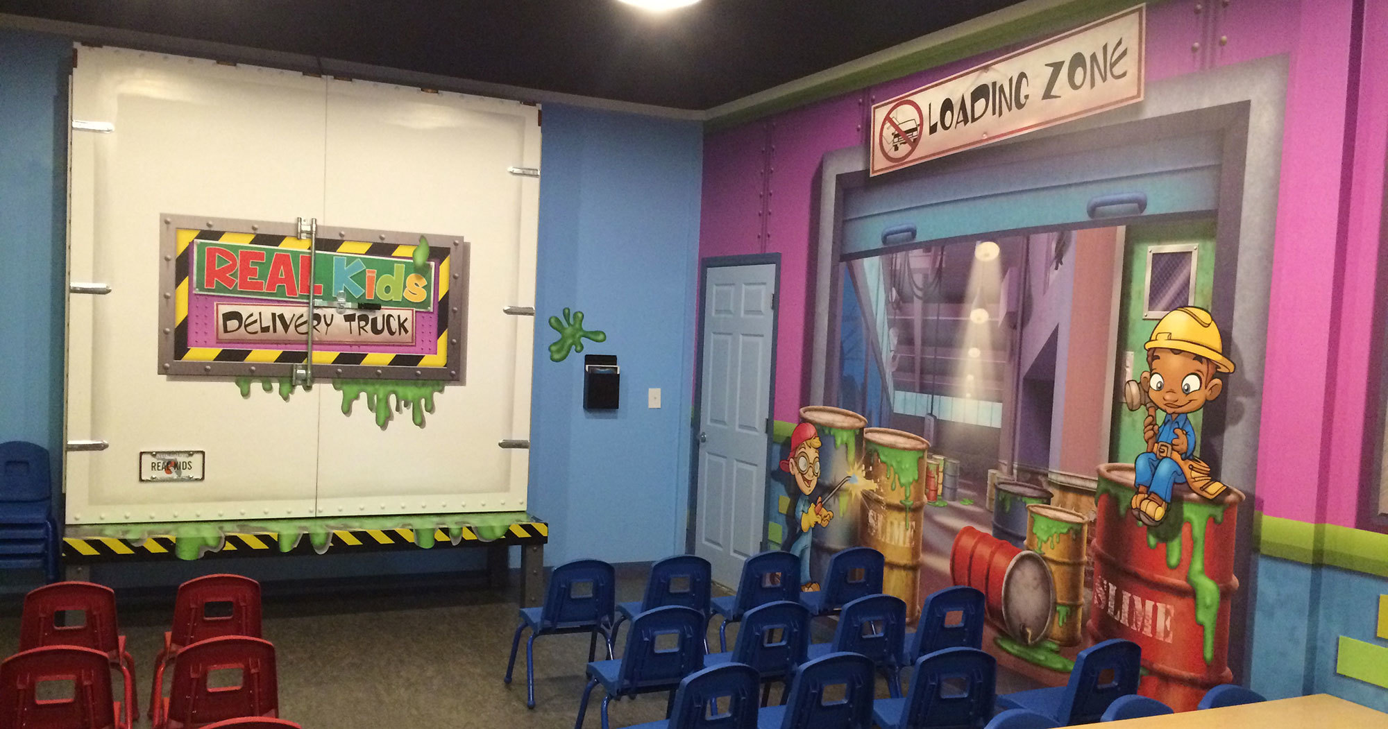 Slime Factory and Industrial Wall Covering at Relevant Church Tampa