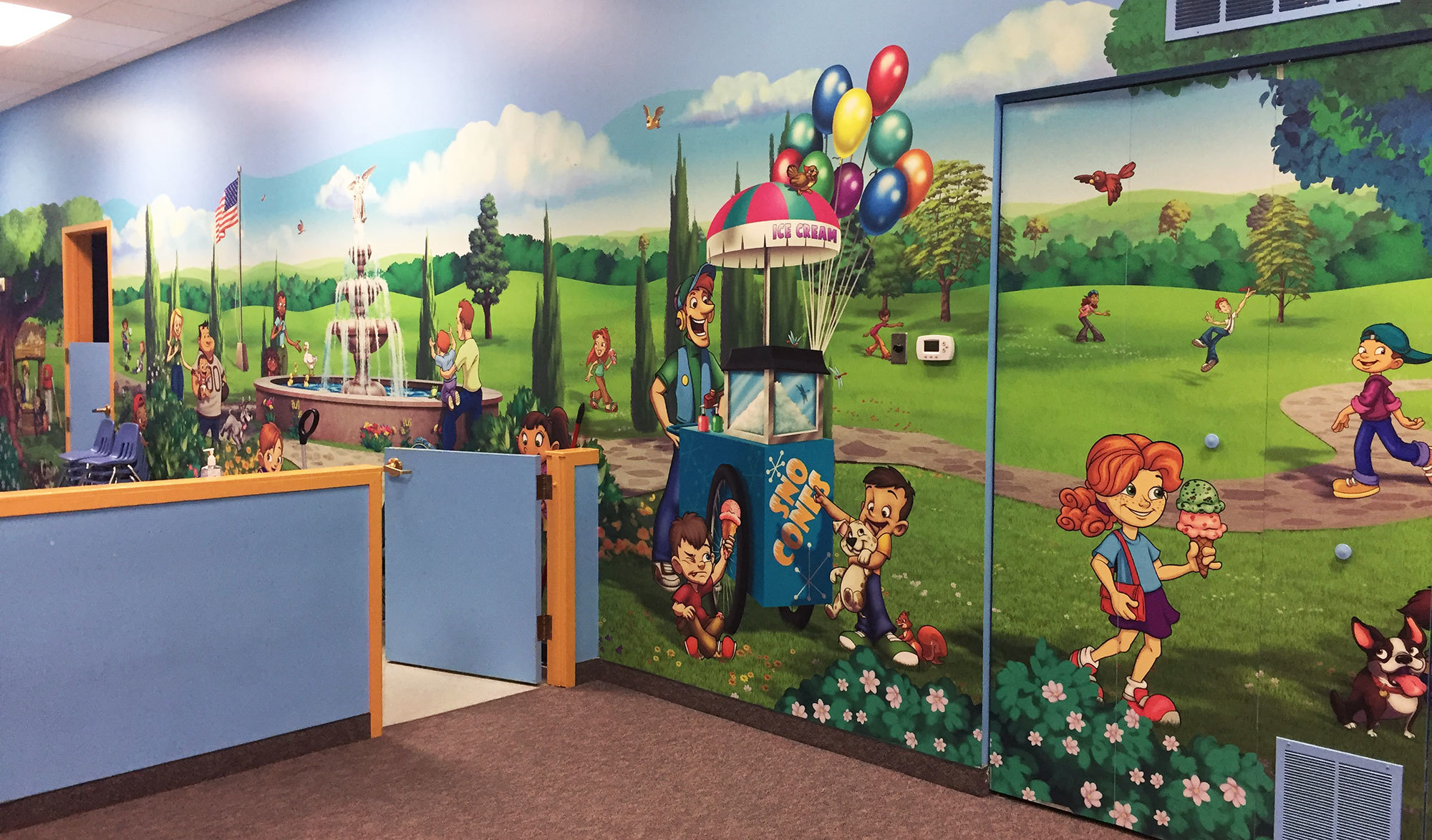 Park & Zoo Themed Wallcovering at Meadowbrook Church