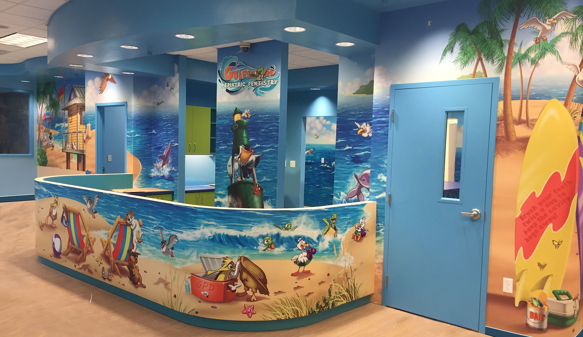 Beach Themed Environment at Gulfshore Pediatric Dentistry