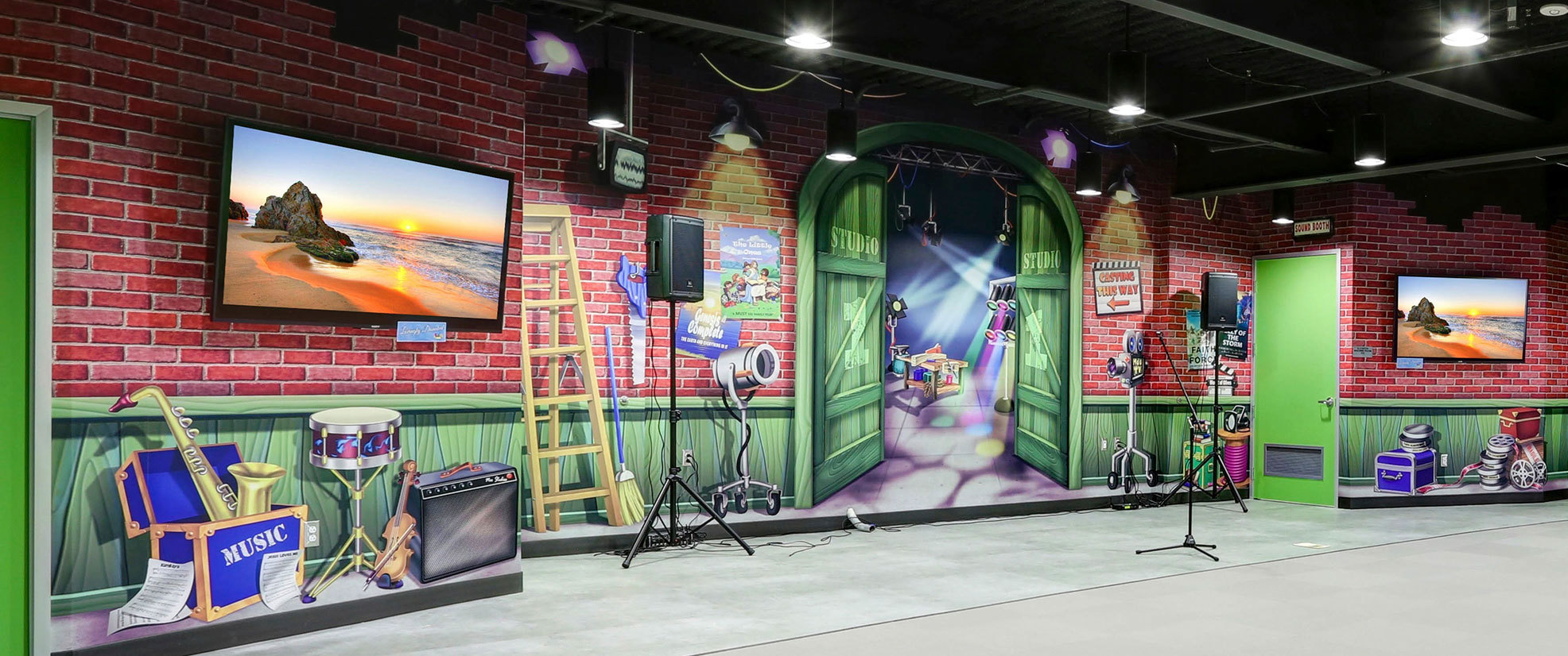 Backlot Studios Themed Wall Covering Stage Backdrop at Mount of Olives