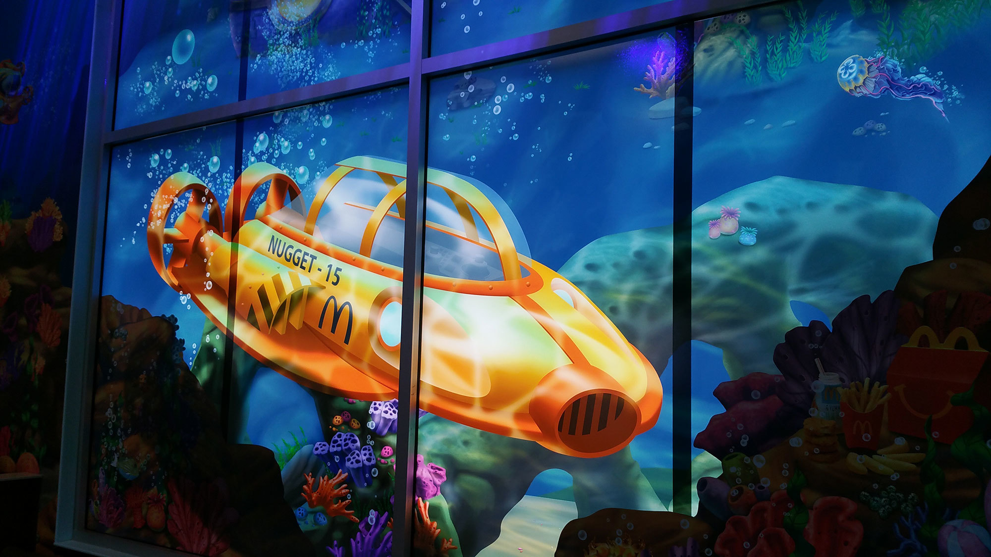 Undersea Themed Space at McDonald's