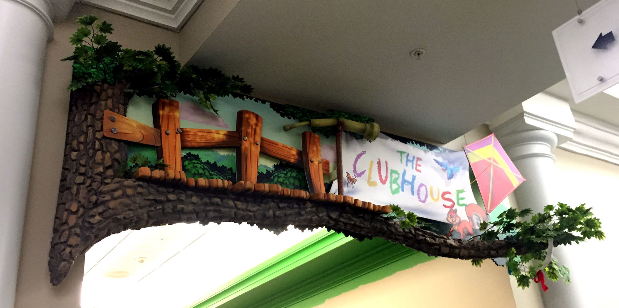 Neighborhood Themed Sign at Meadowbrook Church