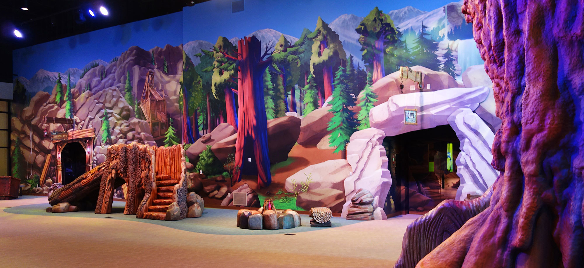 Fully Immersive Camping Themed Environment at NewPointe Community Church in Ohio