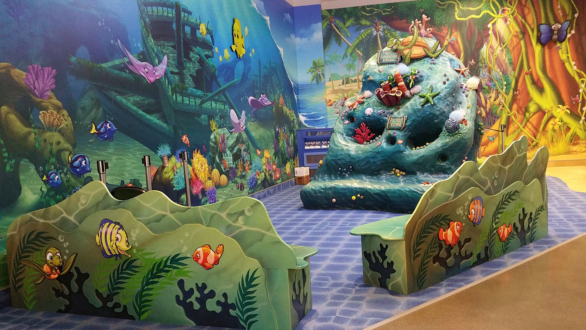 Undersea and Jungle Themed Environment at Sertoma Butterfly House and Marine Cove