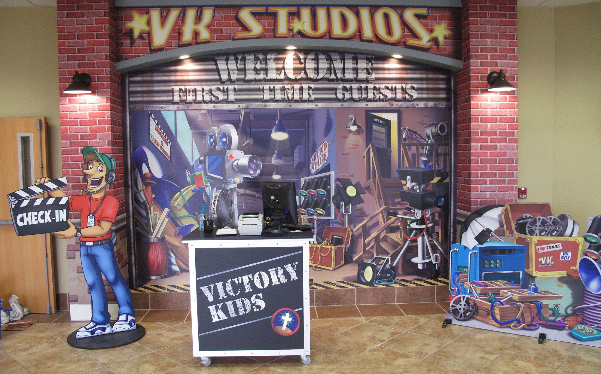 Backlot Studios Themed Environment at Victory Church Amarillo TX