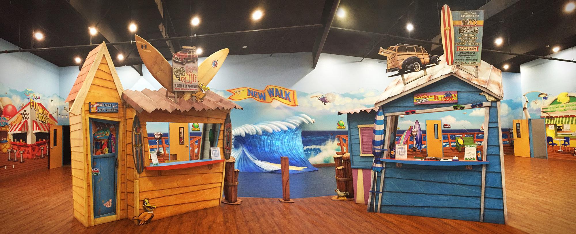Beach & Boardwalk Themed Space at New Walk Church in Florida