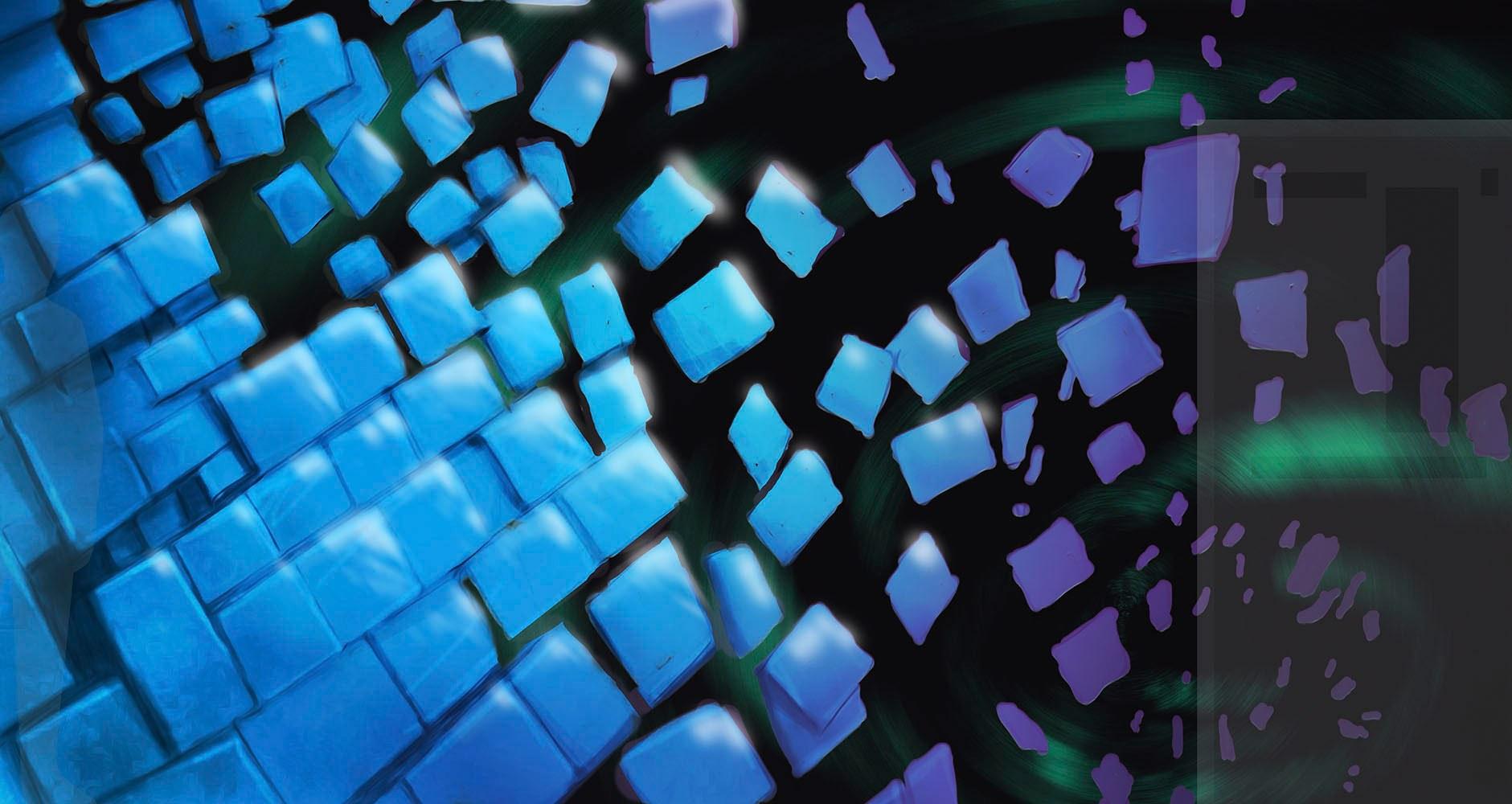 Modern Pixel-like Boxes Concept Wall Art