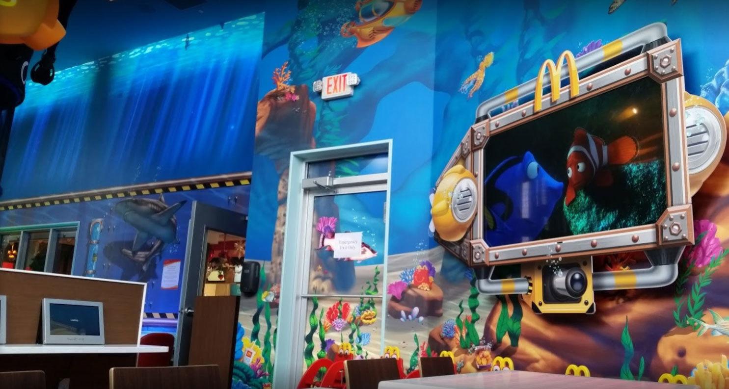 Undersea Themed Environment at McDonald's