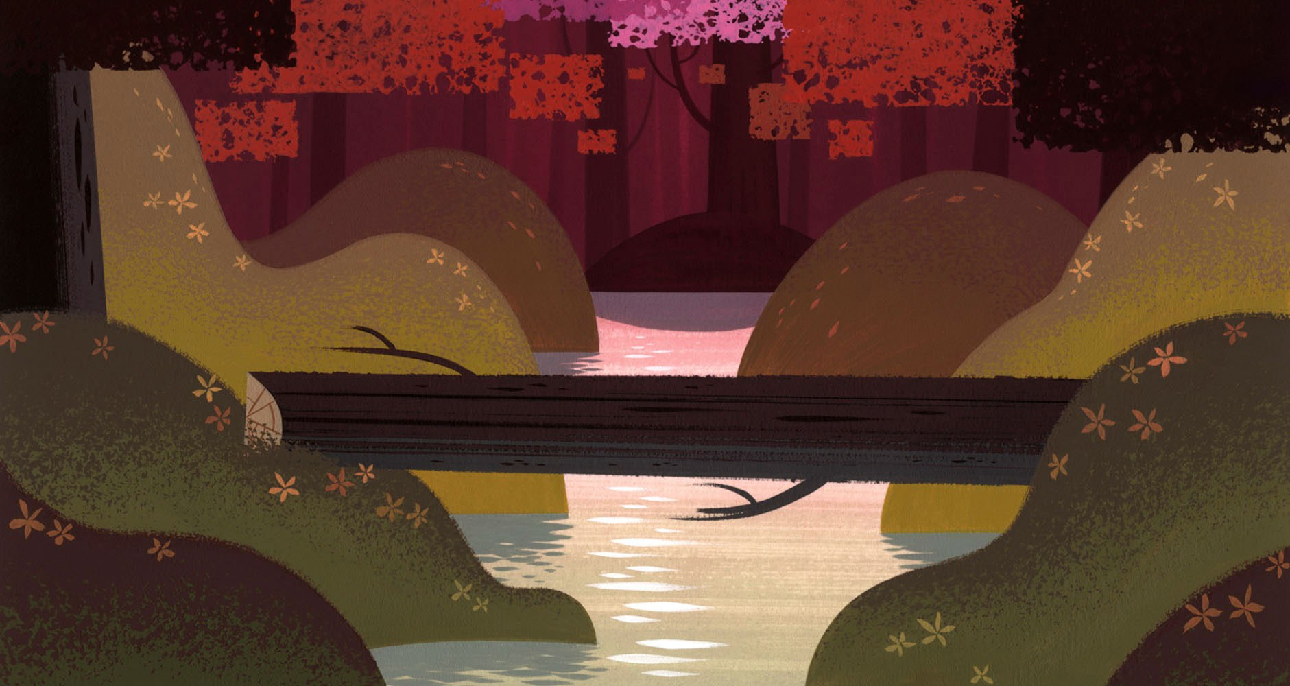 Modern Calico Fall Forest Concept Wall Art