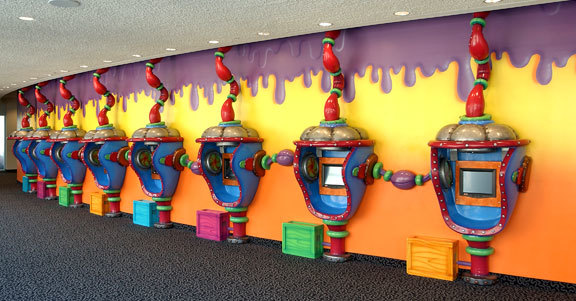 Wacky Slime Factory 3D Check Kiosks and Gaming Stations