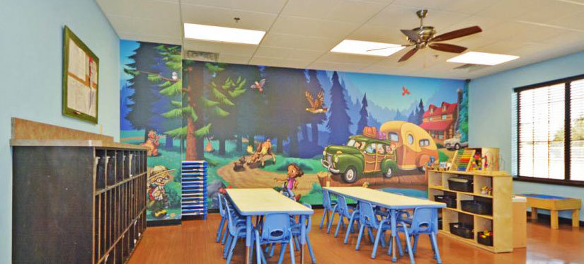 Camping & Lodge Themed Wall Covering at My Small Wonders Daycare