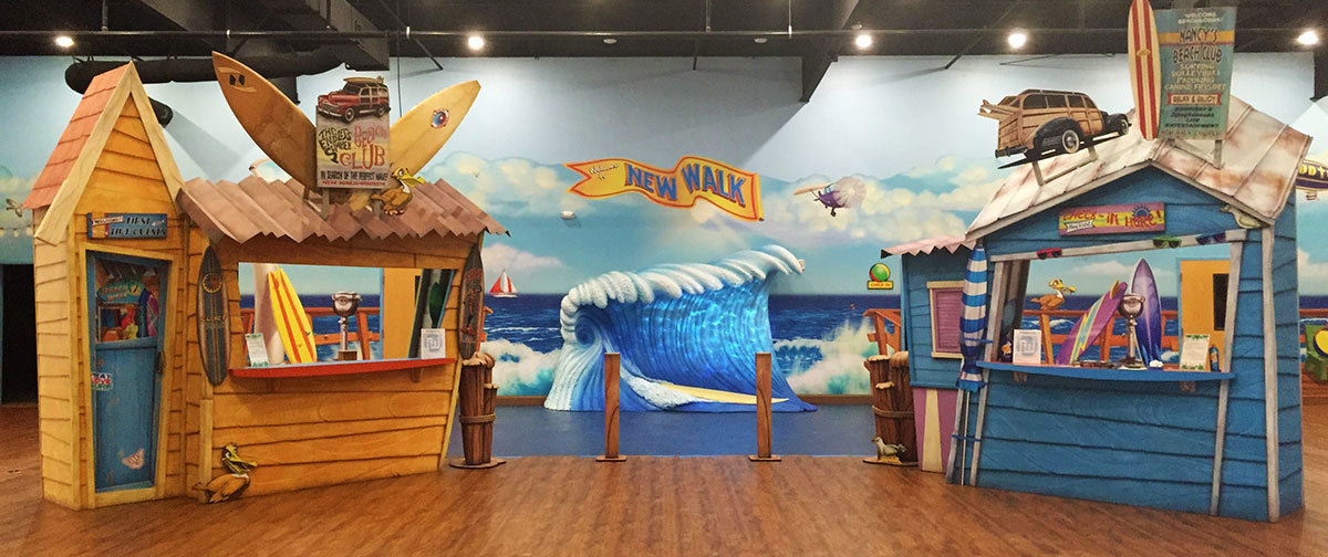 Beach Themed Check In Desk at New Walk Church