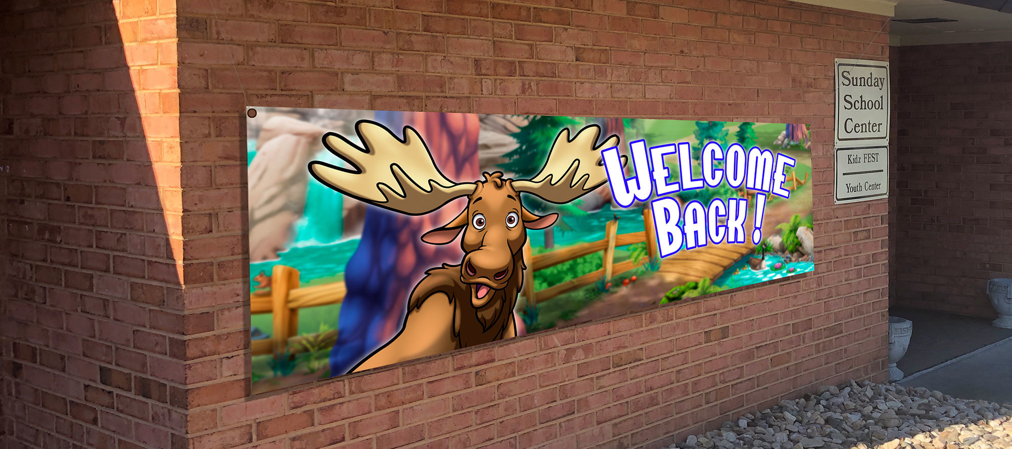 Welcome Back Outdoor Banner