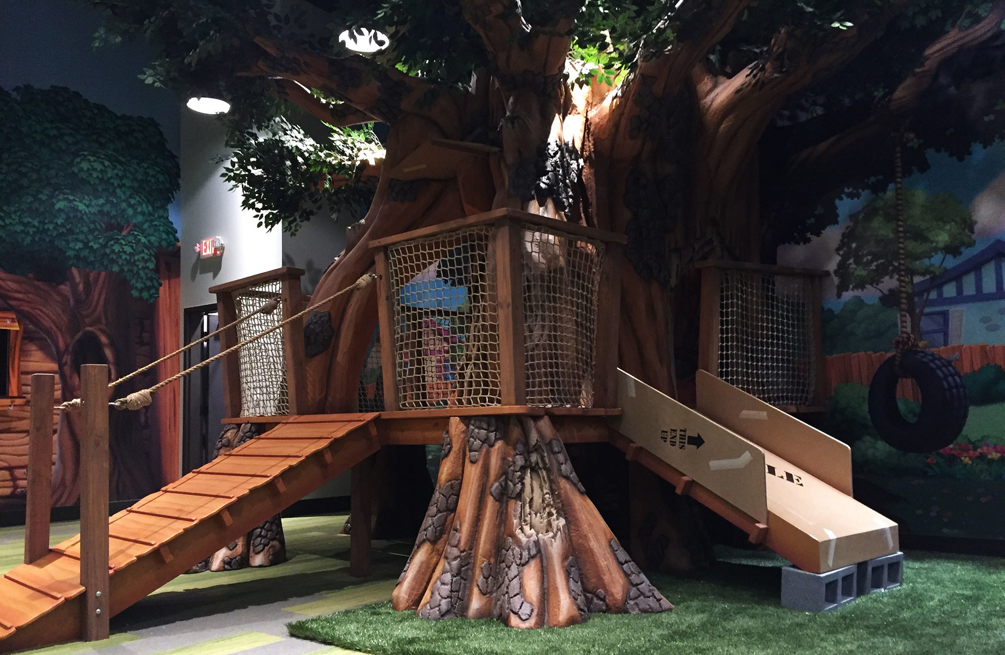 3D Treehouse Slide and Play Area at Christ Fellowship Church
