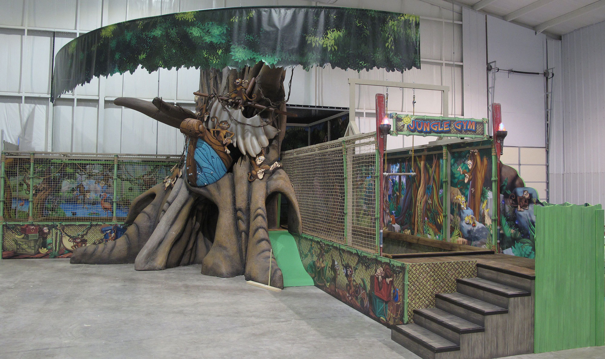 3D Tree and Jungle Themed Play Space