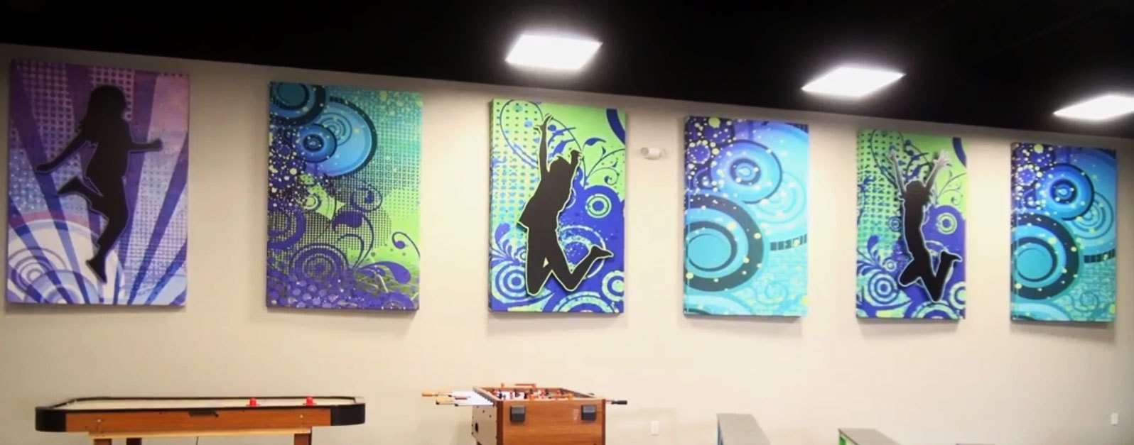 Edgy Colorful Youth Themed Sound Panels