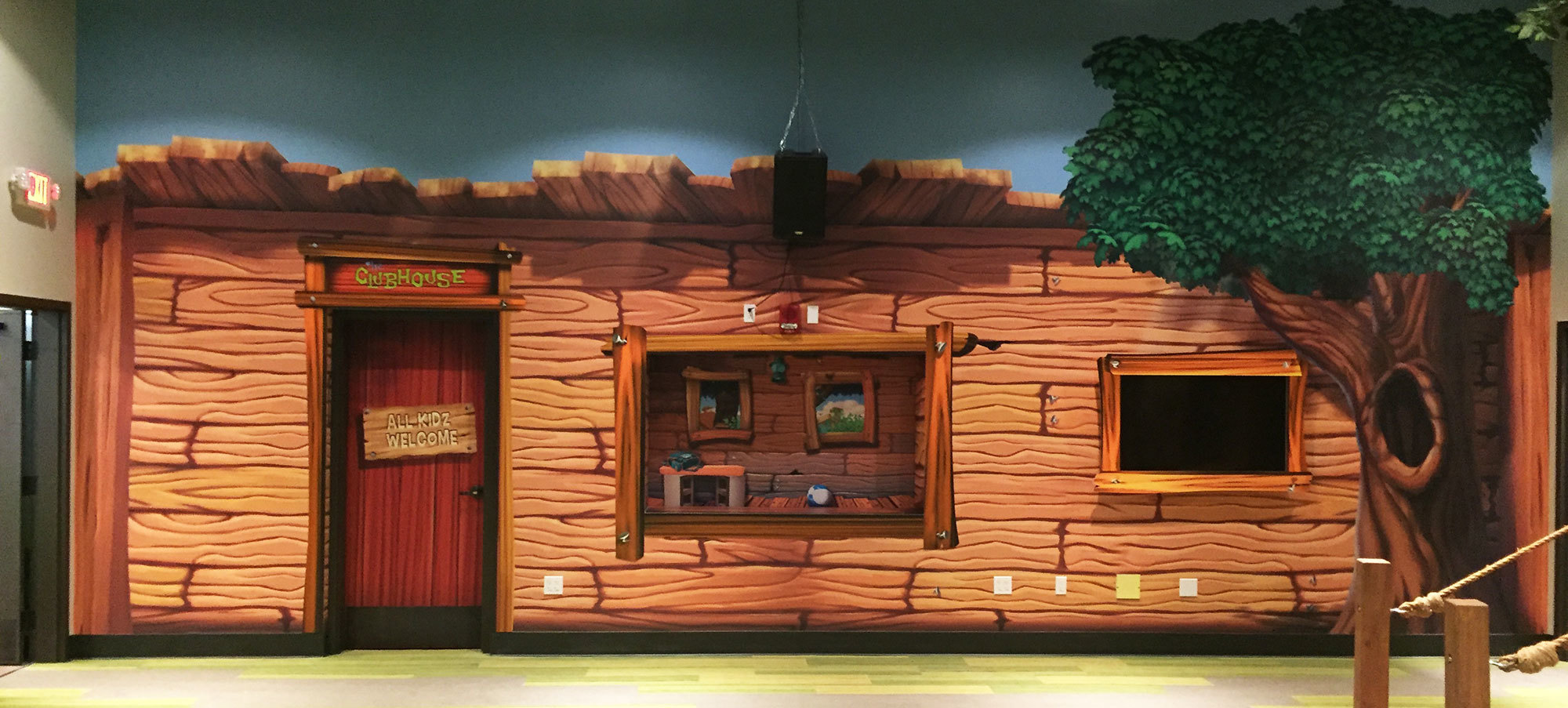 Treehouse Themed Puppet Stage at Christ Fellowship Stuart
