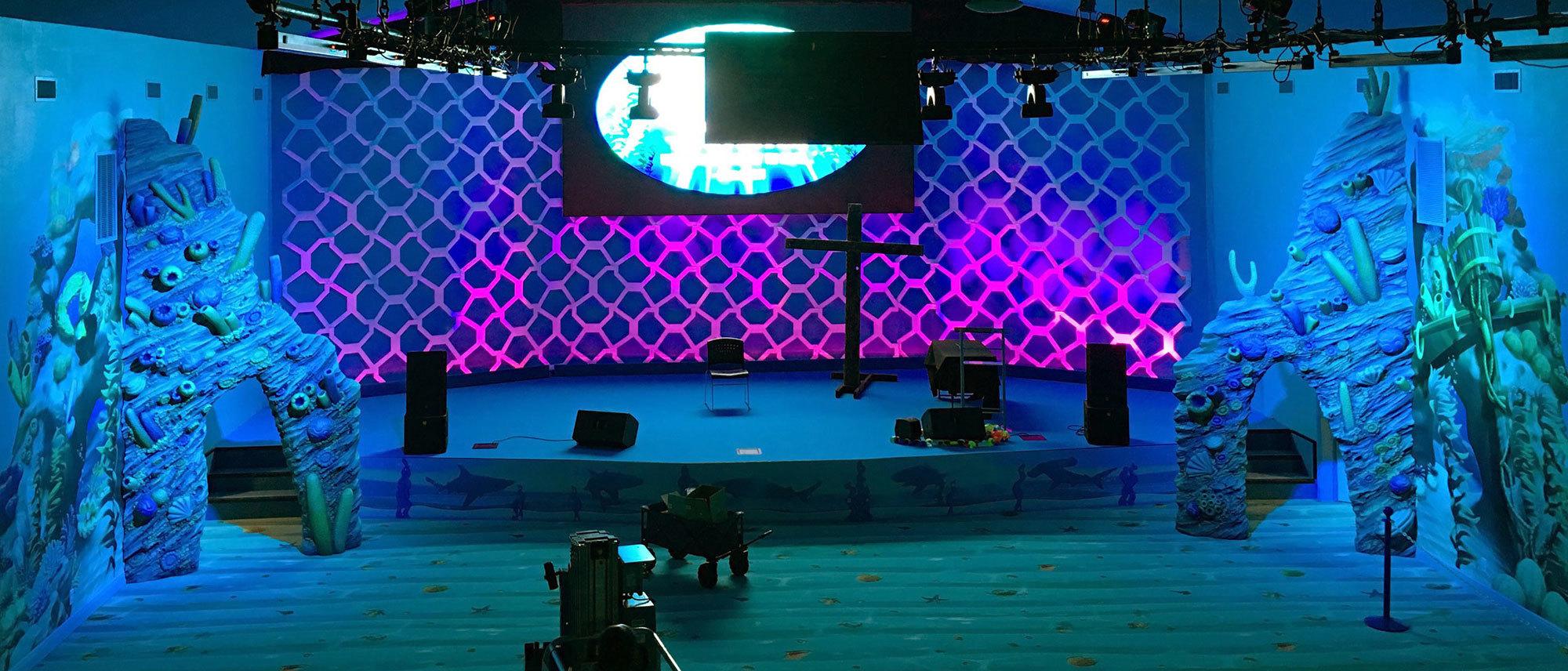 Undersea Themed Stage at Trinity Church International