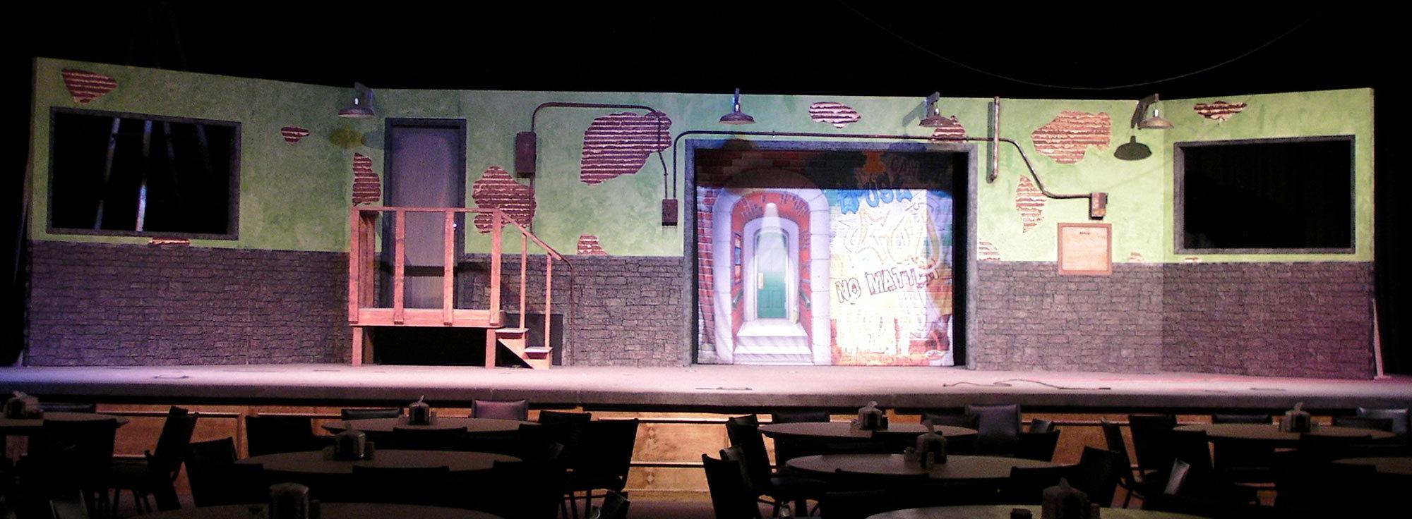 Big City Themed Stage Set