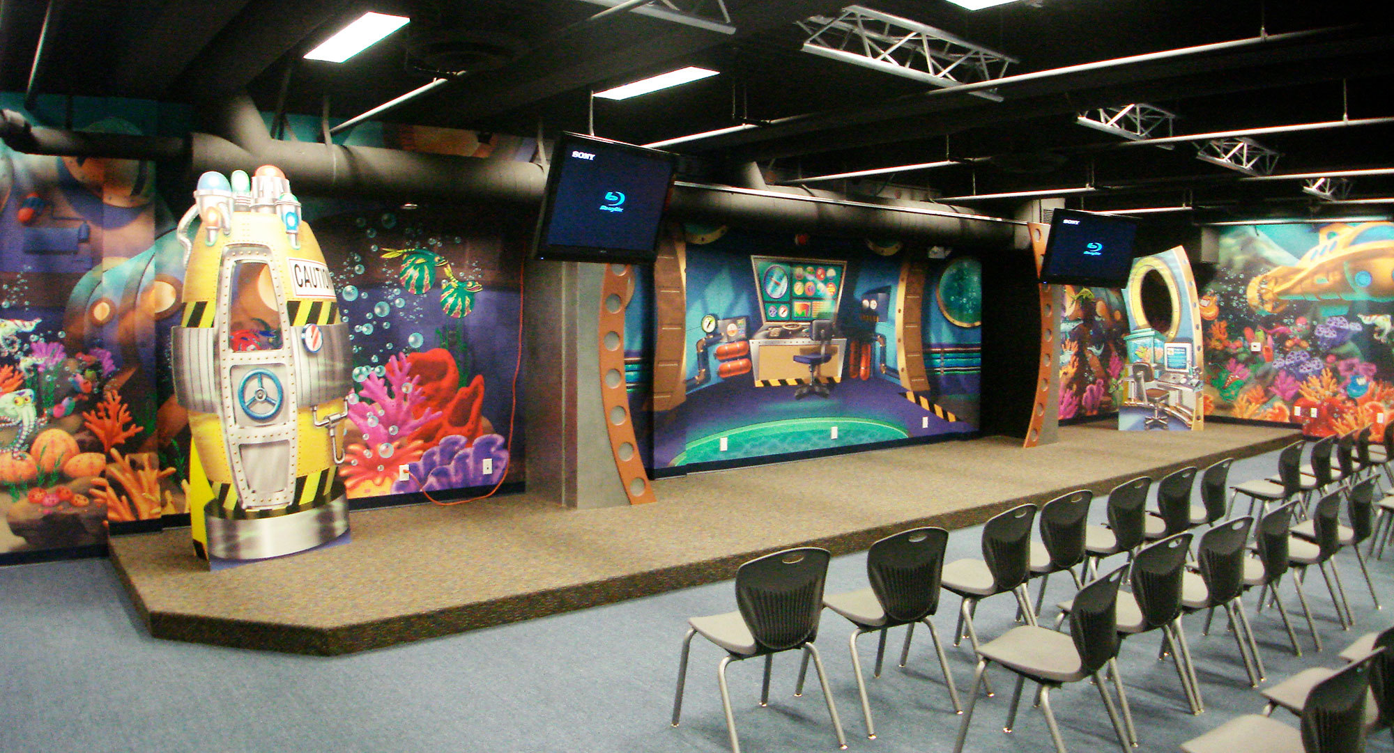 Undersea Themed Stage with 2D Cutouts