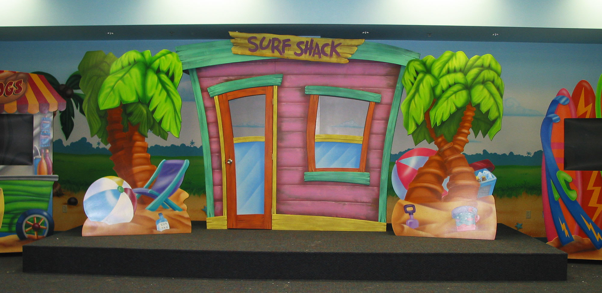 Beach Themed Stage at Harborside Christian Church
