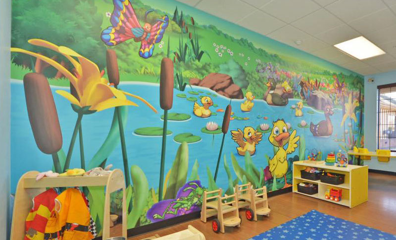 Duck Pond Wall Covering at My Small Wonders Daycare