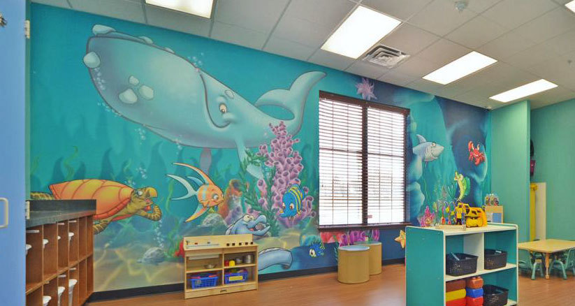 Undersea Wall Covering at My Small Wonders Daycare