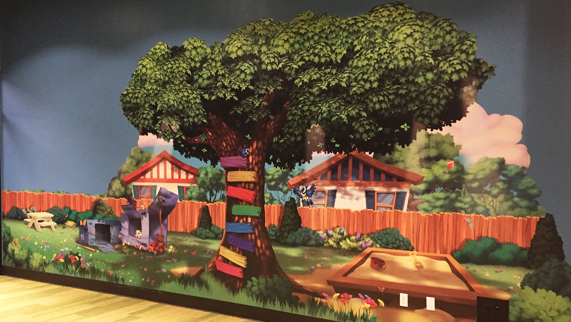 Neighborhood Tree Wall Covering at Christ Fellowship Church