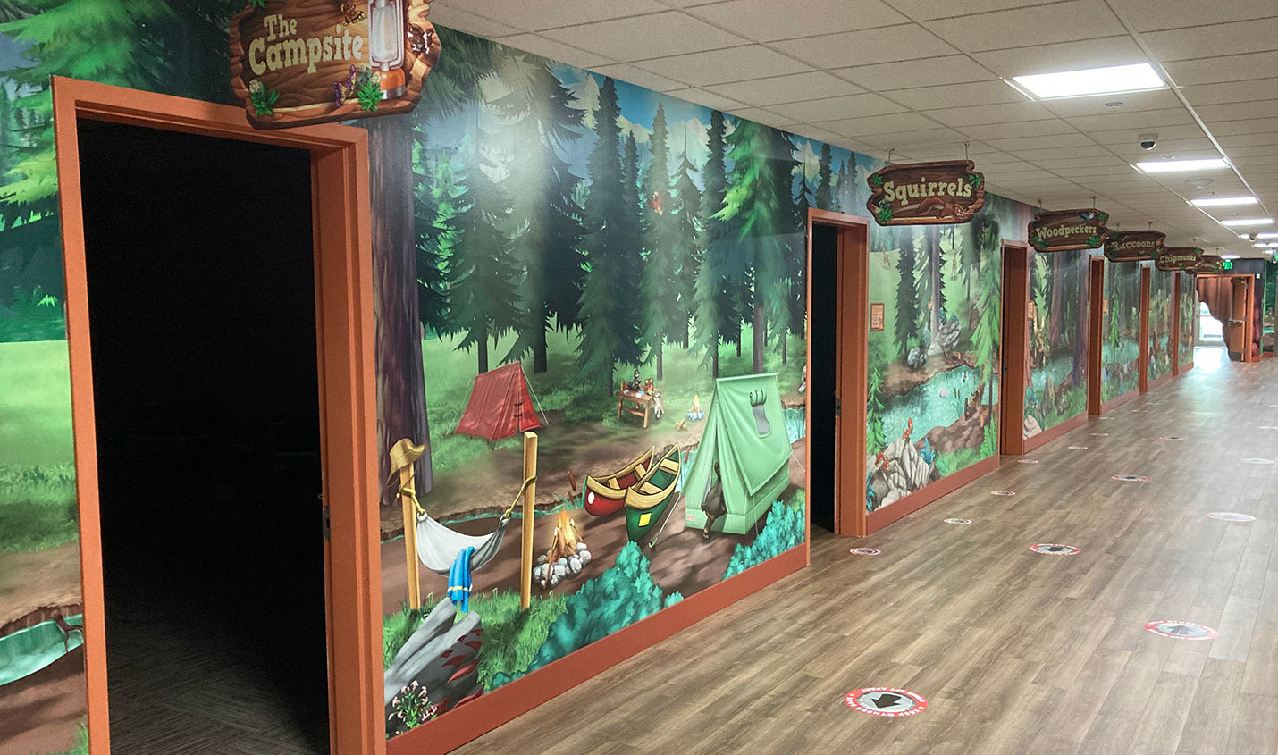 Camping Themed Wall Covering